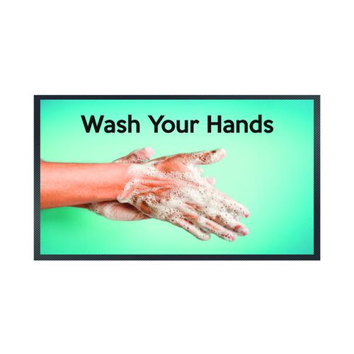 Wash Your Hands Soapy Hands Mat 85 x 150cm 19258660