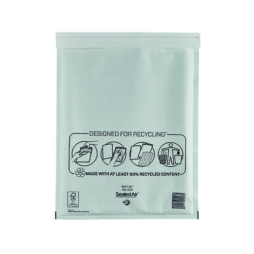 Mail Lite Bubble Lined Postal Bag Size H/5 270x360mm White (Pack of 50) MLW H/5
