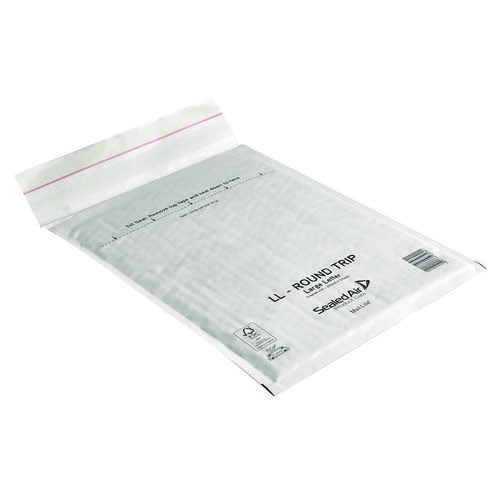 Mail Lite Round Trip Padded Mailer LL 230 x 330mm White (Pack of 50) 100793739