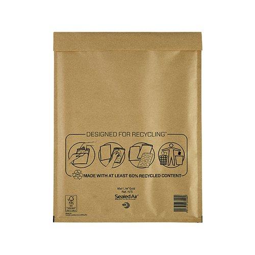 100 x JL5 H//5 PADDED BUBBLE BAGS ENVELOPES 260x345mm
