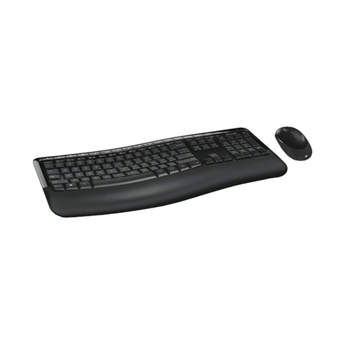 Microsoft Wireless Comfort 5050 Desktop Keyboard and Mouse Set Black PP4-00006