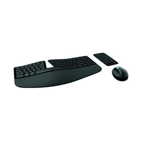 Microsoft Sculpt Ergonomic Desk Keyboard RF Wireless Black L5V-00006