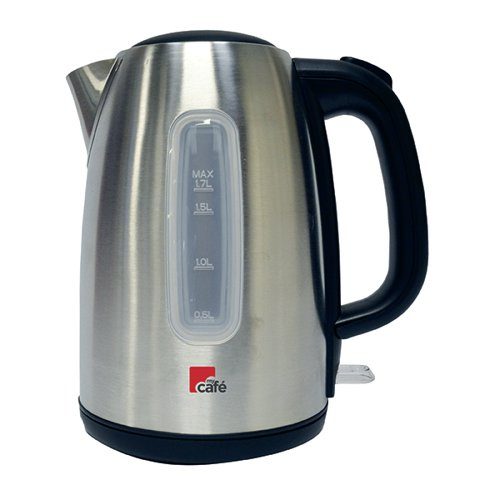 MyCafe Brushed Stainless Steel 1.7 Litre Jug Kettle EV7710