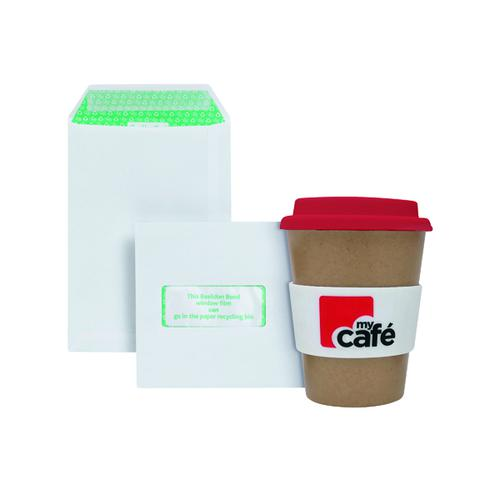 Basildon C5 Window Envelopes White (Pack of 500) FOC MyCafe Bamboo Mug MYC100003