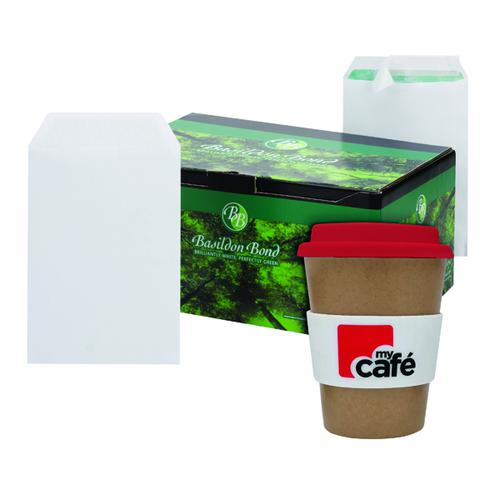 Basildon C5 Envelopes White (Pack of 500) FOC MyCafe Bamboo Mug MYC100004