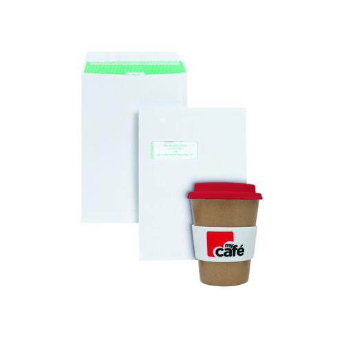Basildon C4 Window Envelopes White (Pack of 250) FOC MyCafe Bamboo Mug MYC10005