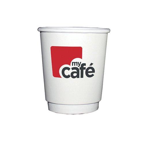 Mycafe 8oz Double Wall Hot Cups (Pack of 500) HVDWPA08V MYC77610