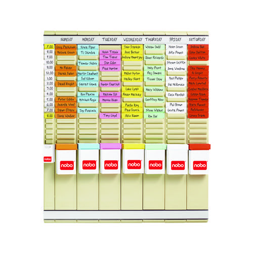 Nobo T-Card 7 Day Planning Kit 2911080