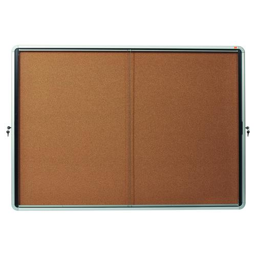 Nobo Internal Glazed Case Cork Sliding Door 18 x A4 1902575
