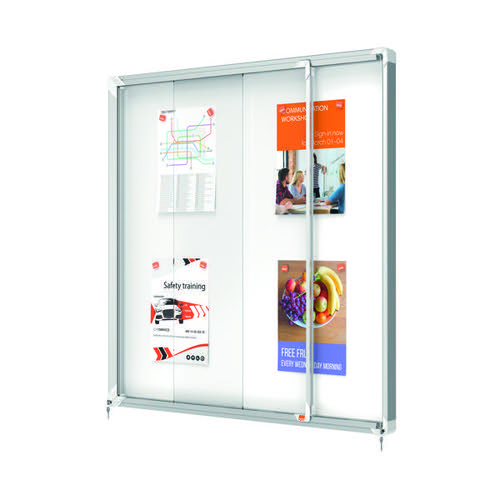 Nobo Premium Plus Magnetic Lockable Notice Board 12xA4 1902570