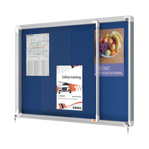 Nobo Premium Plus Felt Lockable Notice Board 8xA4 1902565