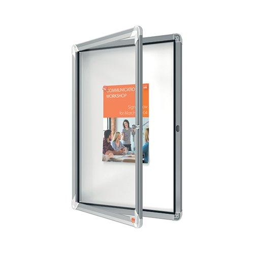 Nobo Premium Plus Magnetic Lockable Notice Board 4xA4 1902557