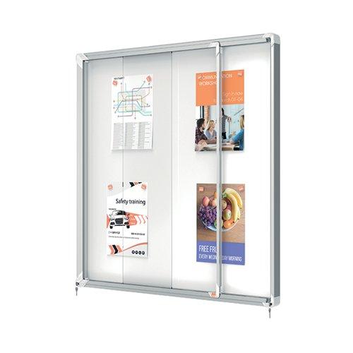 Nobo Premium Plus Outdoor Magnetic Lockable Notice Board 12xA4 1902581