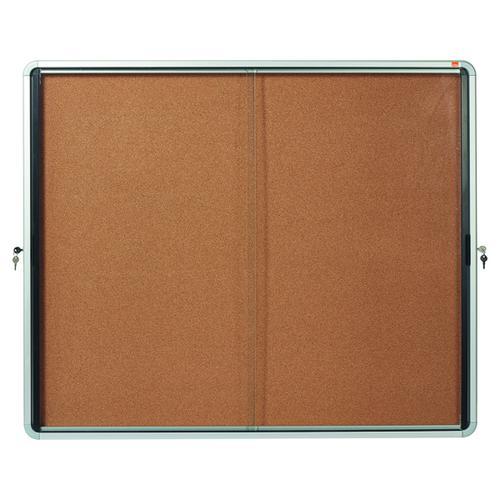 Nobo Internal Glazed Case Cork Sliding Door 15 x A4 1902607