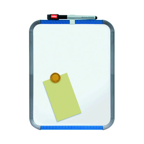 Nobo Slimline Steel Whiteboard 280x220mm Silver Trim QB05142ASTD