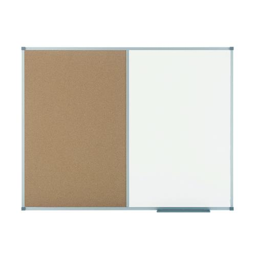 Nobo Elipse Combination Board Magnetic Dry Wipe/Cork 900x600mm 1901587