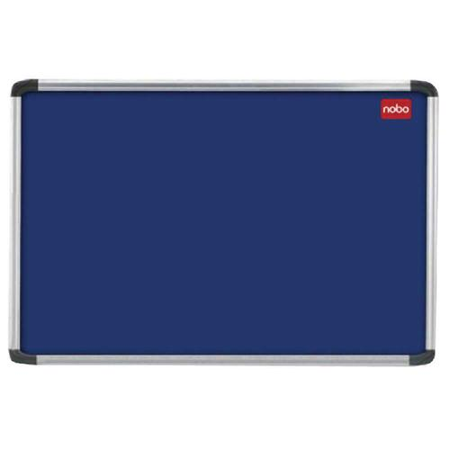 Nobo EuroPlus Blue Noticeboard with Fixings/Frame 2400x1200mm 30230185