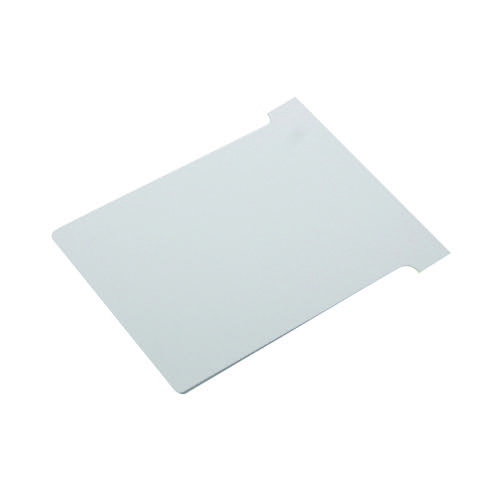 Nobo T-Card Size 2 48 x 85mm White (Pack of 100) 2002002
