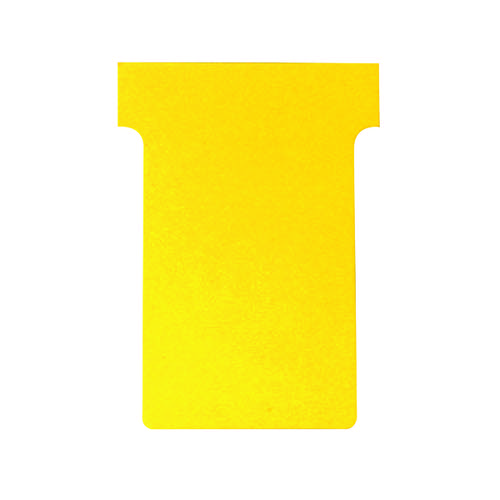 Nobo T-Card Size 2 48 x 85mm Yellow (Pack of 100) 2002004