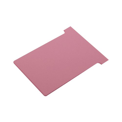 Nobo T-Card Size 3 80 x 120mm Pink (Pack of 100) 2003008