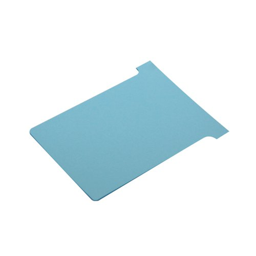 Nobo T-Card Size 3 80 x 120mm Light Blue (Pack of 100) 2003006