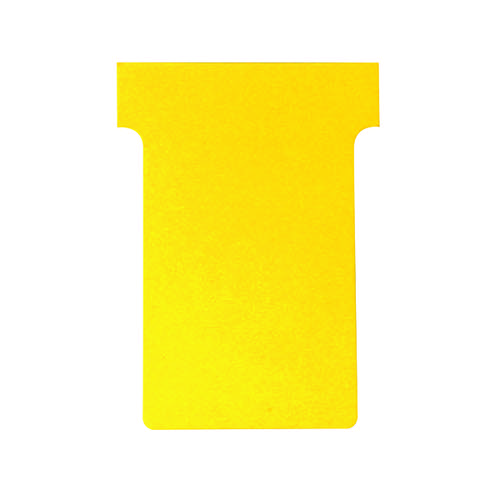 Nobo T-Card Size 4 112 x 180mm Yellow (Pack of 100) 2004004