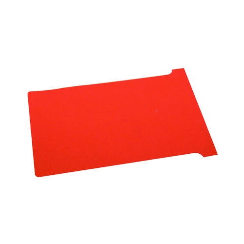 Nobo T-Card Size 4 112 x 180mm Red (Pack of 100) 2004003
