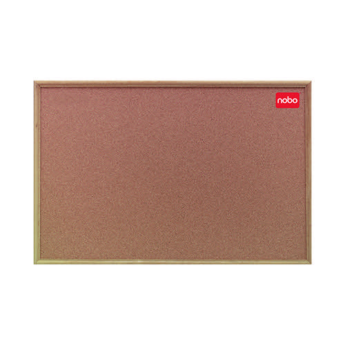 Nobo Cork Noticeboard 1200x900mm Classic Oak 37639004