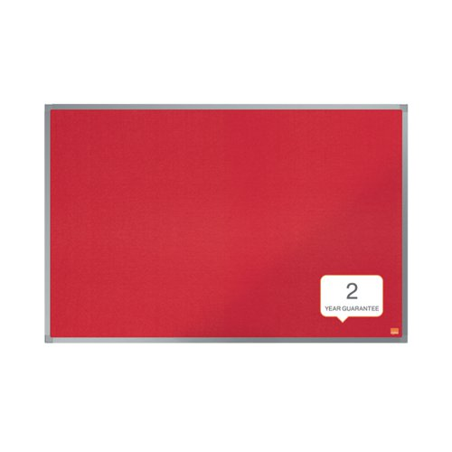Nobo Essence Felt Notice Board 900 x 600mm Red 1904066