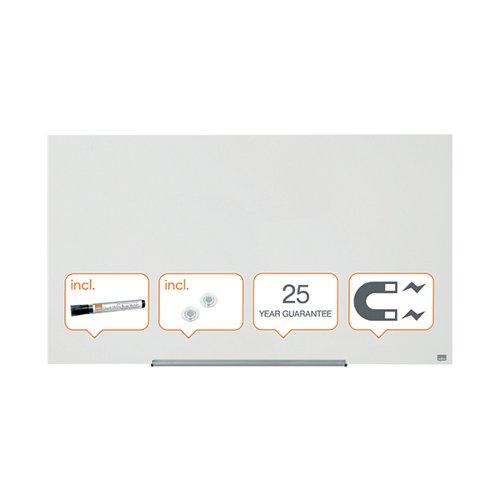 Nobo Impression Pro Glass Magnetic Whiteboard 1260 x 710mm 1905177