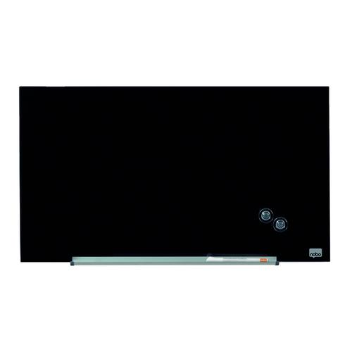 Nobo Glass Whiteboard Widescreen 31 Inch Black 1905179