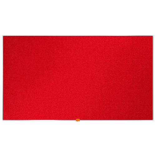 Nobo Widescreen 55inch Red Felt Noticeboard 1220x690mm 1905312
