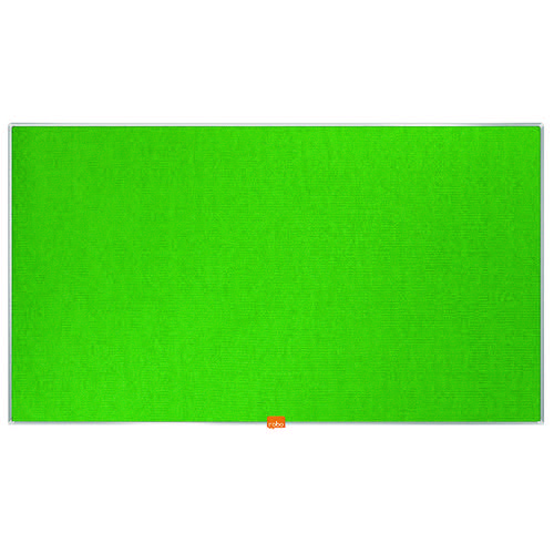 Nobo Widescreen 40inch Green Felt Noticeboard 890x500mm 1905315