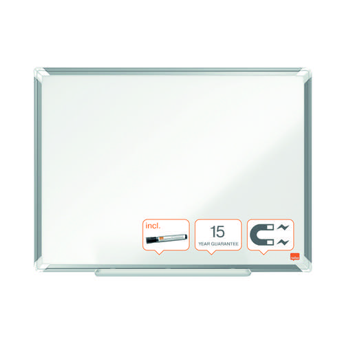 Nobo Premium Plus Magnetic Steel Whiteboard 600 x 450mm 1915154
