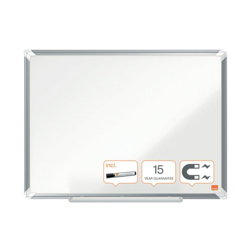 Nobo Premium Plus Magnetic Steel Whiteboard 900 x 600mm 1915155