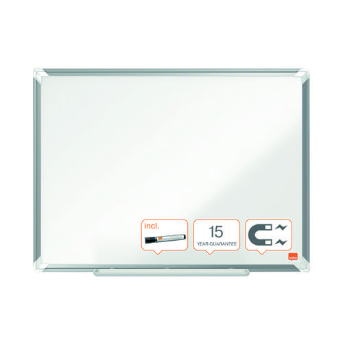 Nobo Premium Plus Magnetic Steel Whiteboard 1200 x 900mm 1915156