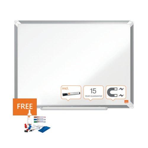 Nobo Premium Plus Magnetic Steel Whiteboard 1800 x 1200mm 1915161