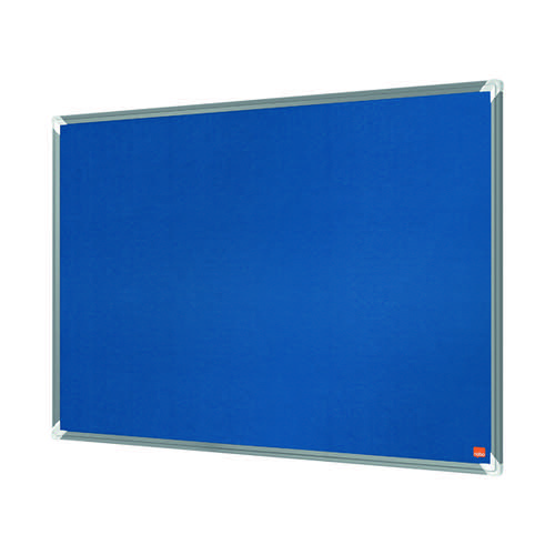 Nobo Premium Plus Felt Notice Board 600 x 450mm Blue 1915187