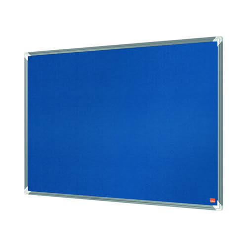 Nobo Premium Plus Felt Notice Board 1200 x 900mm Blue 1915189