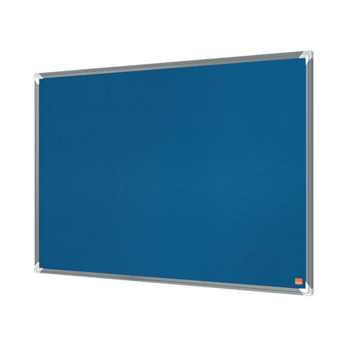 Nobo Premium Plus Felt Notice Board 1500 x 1200mm Blue 1915191