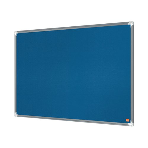 Nobo Premium Plus Felt Notice Board 2400 x 1200mm Blue 1915193