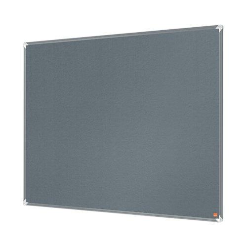 Nobo Premium Plus Felt Notice Board 600 x 450mm Grey 1915194