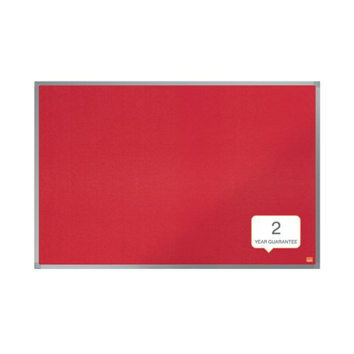 Nobo Essence Felt Notice Board 600 x 450mm Red 1915202