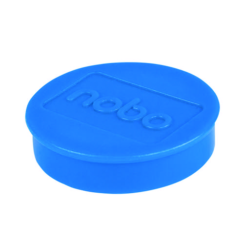 Nobo Whiteboard Magnets 38mm Blue (Pack of 10) 1915313