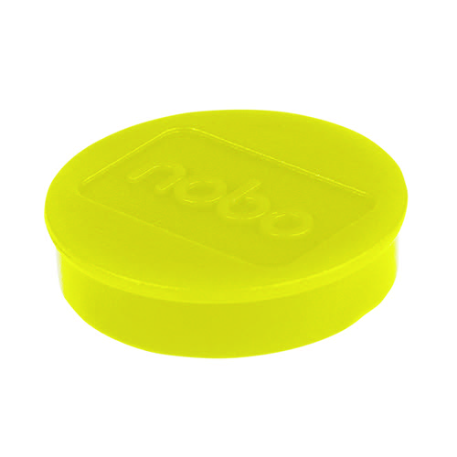Nobo Whiteboard Magnets 38mm Yellow (Pack of 10) 1915316
