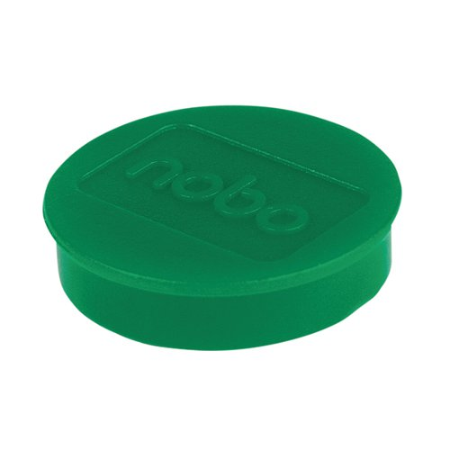 Nobo Whiteboard Magnets 38mm Green (Pack of 10) 1915317