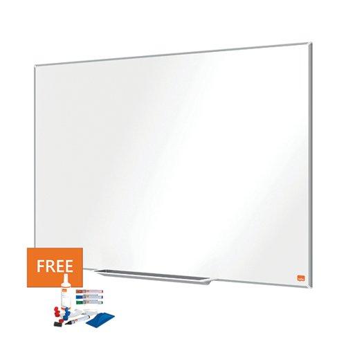 Nobo Impression Pro Classic Enamel Whiteboard 1200 x 900mm 1915396