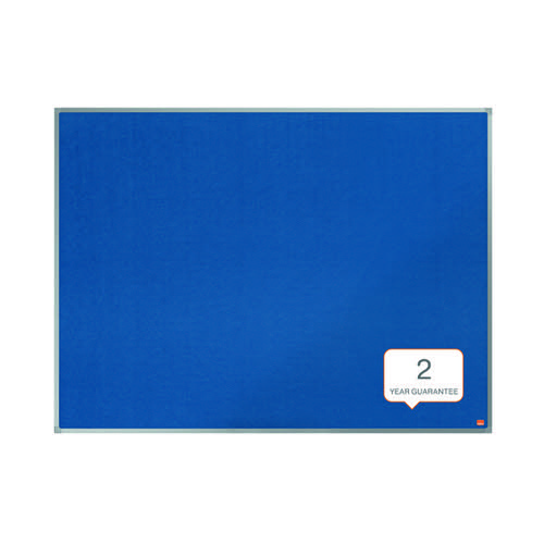 Nobo Essence Felt Notice Board 1800 x 1200mm Blue 1915438