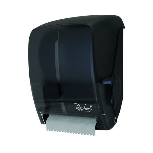 Raphael Lever Roll Towel Dispenser Smoke LEVSMORA by Northwood Hygiene Products, NH07615