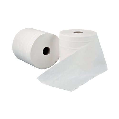 Leonardo 1-Ply Hand Towel Roll White (Pack of 6) RTW200DS